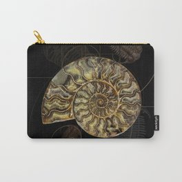 Ammonite Trilobite Fibonacci Spiral Carry-All Pouch