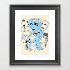 Scribbles  Framed Art Print