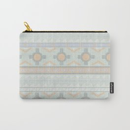Desert Stripes No. 3 in Sage Bush Green Carry-All Pouch