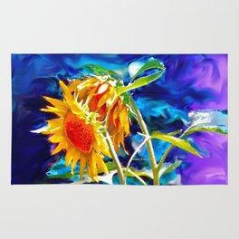 Sunflowers By Annie Zeno Rug