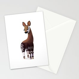 Lovely okapi. Vector graphic character Stationery Cards