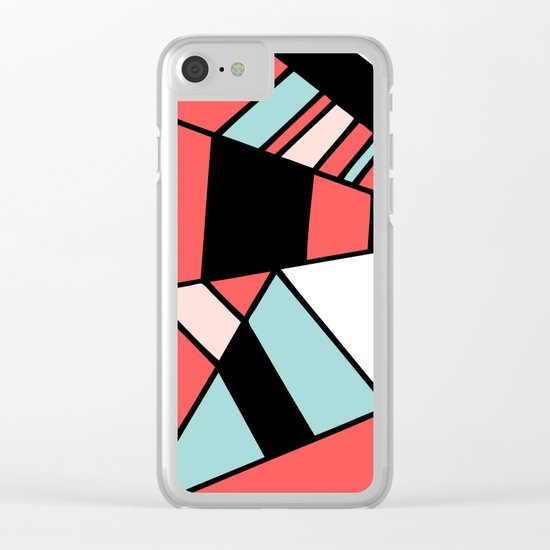 Abstract #451 Clear iPhone Case