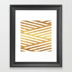 Gold Stripes Framed Art Print