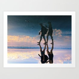 Sunset reflection Art Print