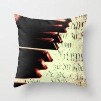 piano Throw Pillows featuring piano by Falko Follert Art-FF77