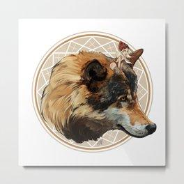 Wild Child - Wolf Metal Print