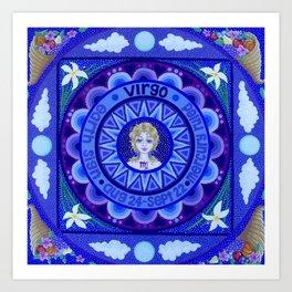 Astrological Sign of Virgo Art Print