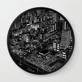 Asakusa, Japan in BW Wall Clock