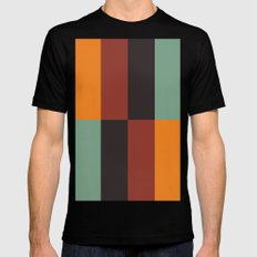 Stripes and swatches Black MEDIUM Mens Fitted Tee