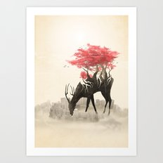Revenge of the forest Art Print