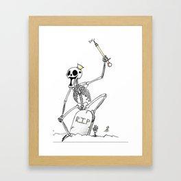 Skull King Framed Art Print