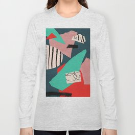 abstract paper collage Long Sleeve T-shirt