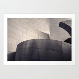 Architectural abstract, Black and White, LA Philharmonic, Architect: Frank Gehry Art Print