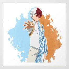 My Hero Academia Minimalist (Todoroki) Art Print