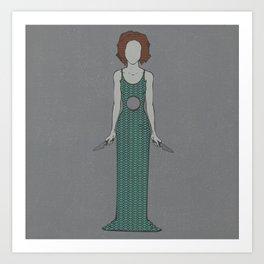 Showdown (Green) Art Print