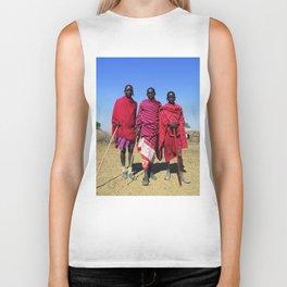 3 African Men from the Maasai Mara Biker Tank