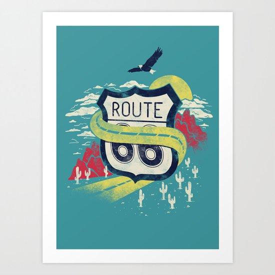 Get your kicks on Art Print