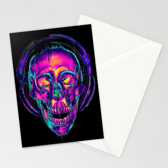Trippy Skull Stationery Cards