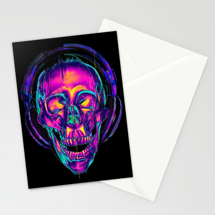 Trippy Skull Stationery Cards