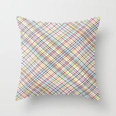 Rainbow Weave 45 Throw Pillow