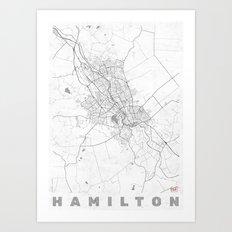 Hamilton Map Line Art Print