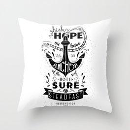 Hebrews 6:19 Throw Pillow