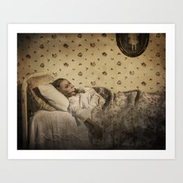 C is for Clara Who Wasted Away  Art Print