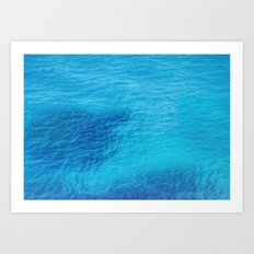 Bluest Blue Art Print