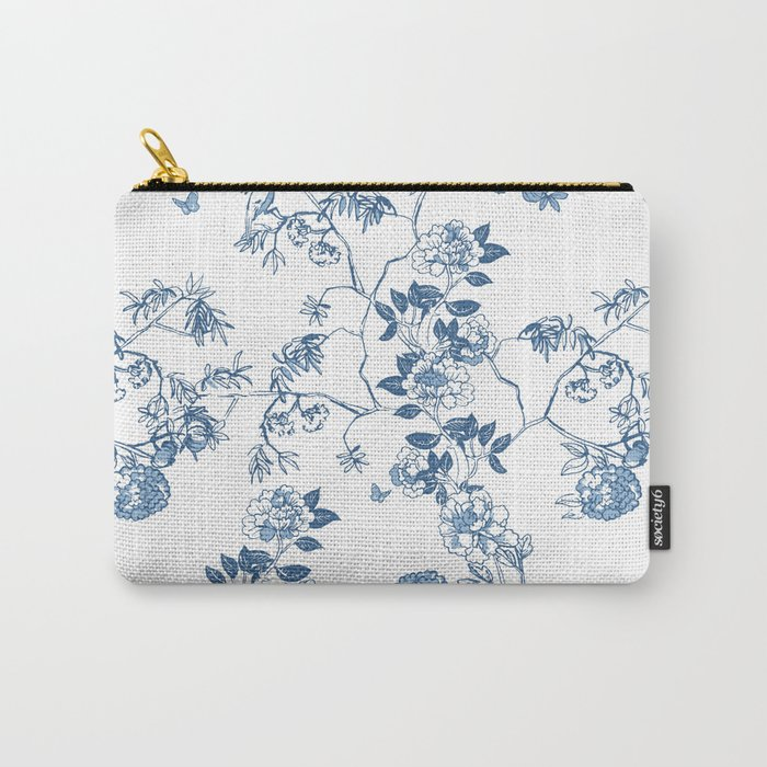 Chinoiserie in White Carry-All Pouch