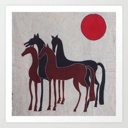 Royal horses Art Print