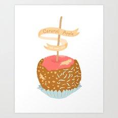 Caramel Apple om nom nom Art Print