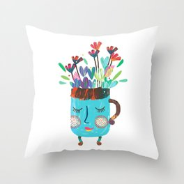 The Happy Cup Throw Pillow