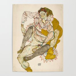 """Egon Schiele """"Seated Couple"""" Poster"""