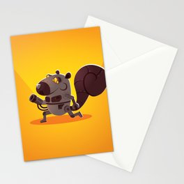Robo Squirrel Stationery Cards