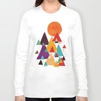 mountains Long Sleeve T-shirts featuring Let's visit the mountains by Picomodi