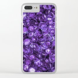 Pebbles By The Sea Clear iPhone Case