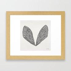 Black Cicada Wings Framed Art Print
