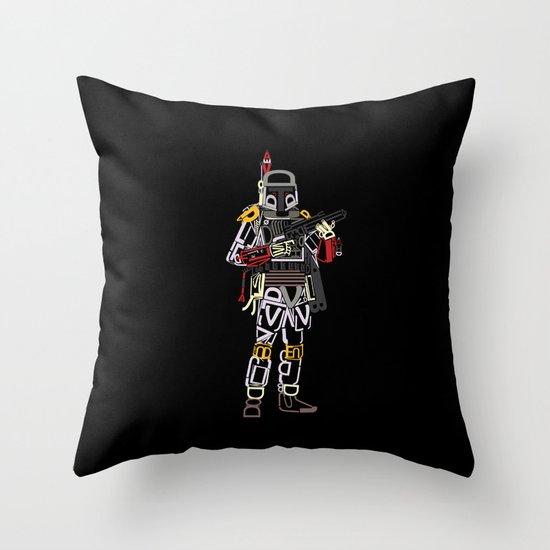 Boba Font Throw Pillow