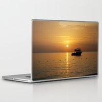 jamaica Laptop & iPad Skins featuring Sunset in Jamaica  by Jason Carnegie