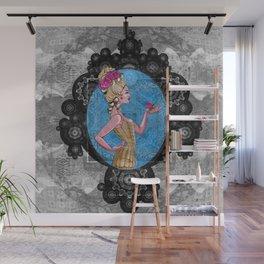 Boho Steampunk Flower Vixen Wall Mural