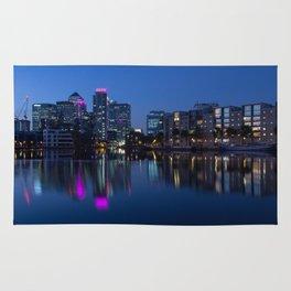 Docklands sunset Rug