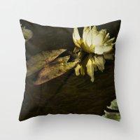 beth hoeckel Throw Pillows featuring Lily Beth by gymmybob