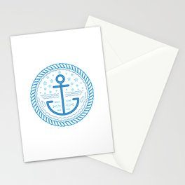 Blue Anchor Stationery Cards