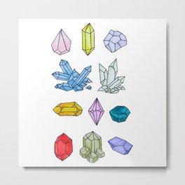 Crystals Study Illustration Metal Print