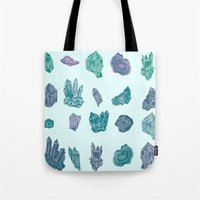 minerals Tote Bags featuring Mystical Minerals by Hannah Margaret Illustrations