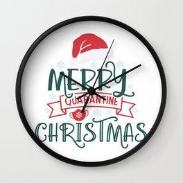 merry quarantine christmas Wall Clock