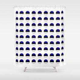 Flag of estonia 3-estonian,baltic,tallinn,tartu,eesti,balti,slav,viking,baltico,parnu Shower Curtain