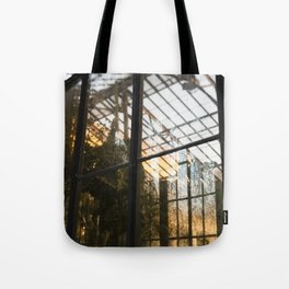 Golden Light in the Greenhouse Tote Bag