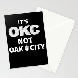 Oklahoma City, Its OKC not Oak City Stationery Cards