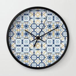 Mixed Portuguese Azulejos  Wall Clock